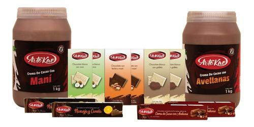 Cremas De Cacao Con Avellanas Y Con Maní + Tabletas Chocolat
