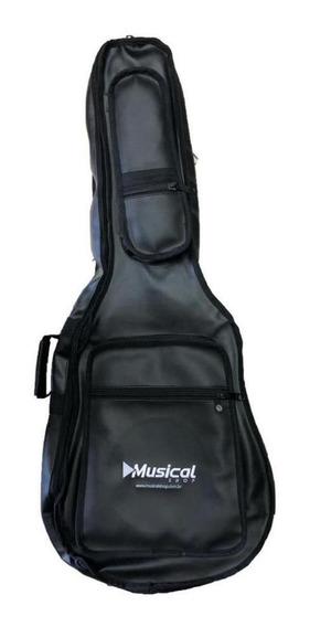 Capa Premium Musical Para Violão Preto