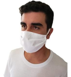Kit 10 Máscaras Proteção Lavável Algodão 200 Fios Dupla Face