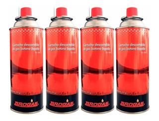 Cartucho Gas Butano Pack X 4 Brogas 227gr Anafe Calentador