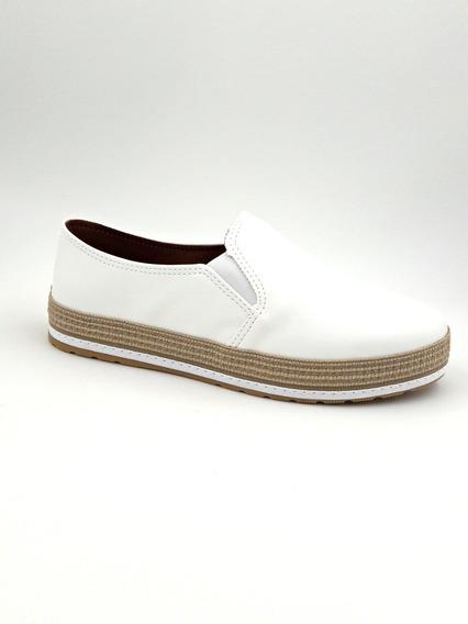 Tênis Slip On Flatform Branco Redsun 207606