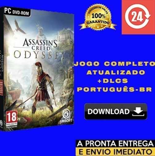 Assassins Creed Odyssey Pc + Brinde - Português Br + Dlcs