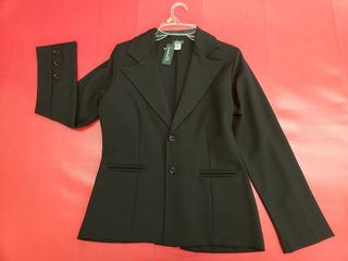 Saco De Vestir Negro Para Uniforme Trabajo Marca Glamur