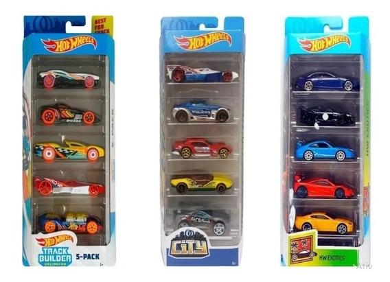Carrinhos Hot Wheels Cartela Com 5 Unidades Mattel Original