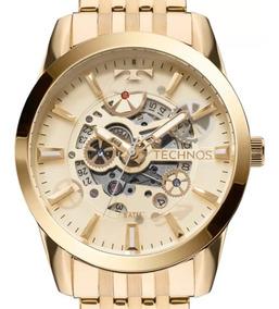 Relógio Technos Automático Masculino 8205nq/4x Dourado