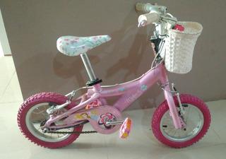 Bicicleta Niña Princesa Rosa