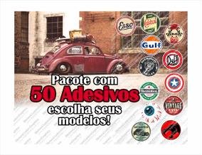Adesivos Retro Antigos Vintage Automotivos Diversos (50 Un.)