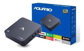 Tv Box Aquário Stv-2000 Android Netflix Youtube Smart Tv 4k
