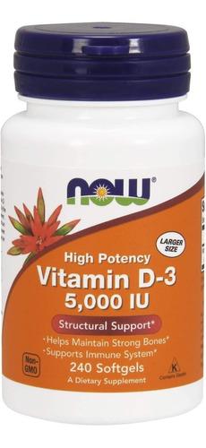 Now Vitamina D3 5000 Iu 240 Und - Unidad a $375