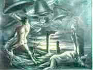 Pintura La Muerte Óleo Sobre Lienzo Harvey Rendon 110x130 !!