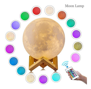 Moonlight Luna 3d Lámpara Luz Led Dimmer Control Remoto 15cm