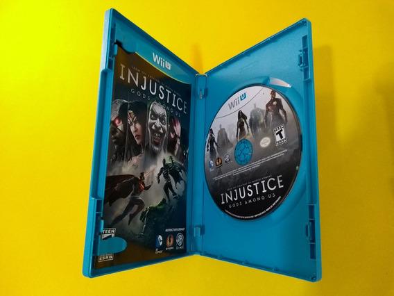Injustice Gods Among Us Wii U Original Usa Mídia Física