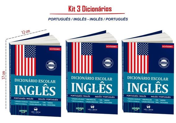 3 Dicionario Escolar Inglês Português (atualizados)