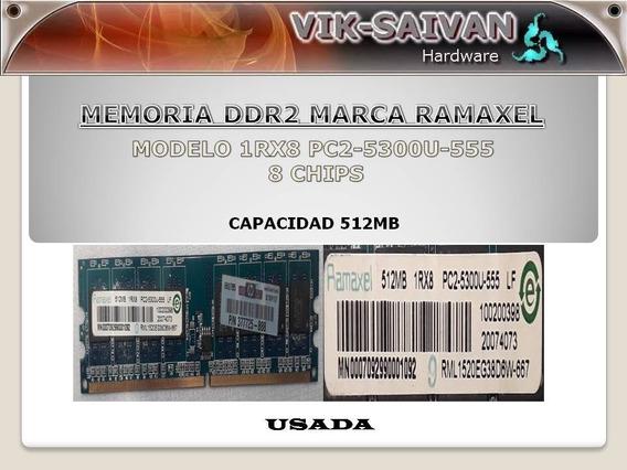 Memoria Ddr2 Ramaxel 512mb Pc2-5300 667mhz 8 Chips 41