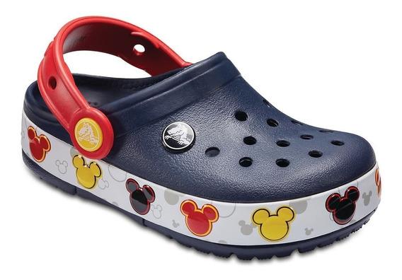 Crocs Originales Mickey Luz Kids C204994 C410 Nene Asfl70