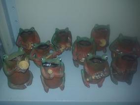 Escultura Em Argila - Sapos Cantores