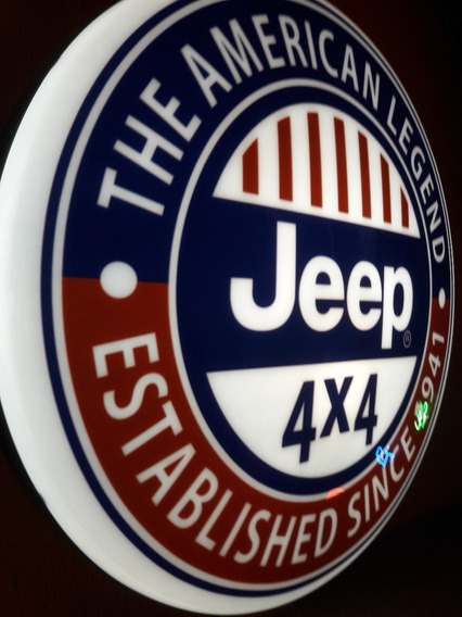 Luminoso Decorativo Automóvel Carro Jeep Garagem Bar Buteco