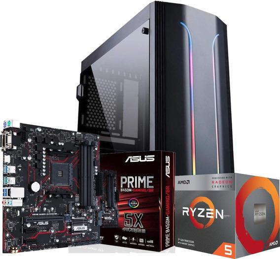 Pc Gamer Ryzen 5 3400g B450m 2x 8gb Ssd 120gb Hd500gb 500w