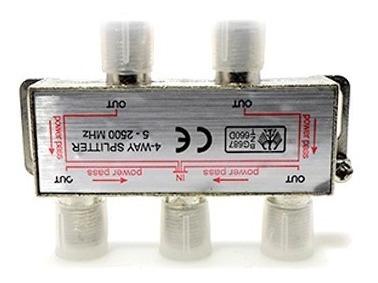 Divisor De Alta Frequencia 5-2500mhz 1 X 4 Antena Tv Uhf Vhf