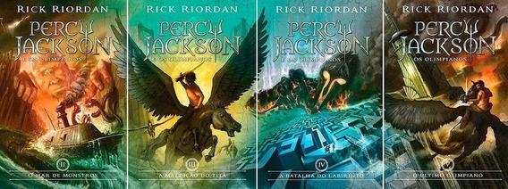 4 Livros Percy Jackson E Os Olimpianos - Edição Original
