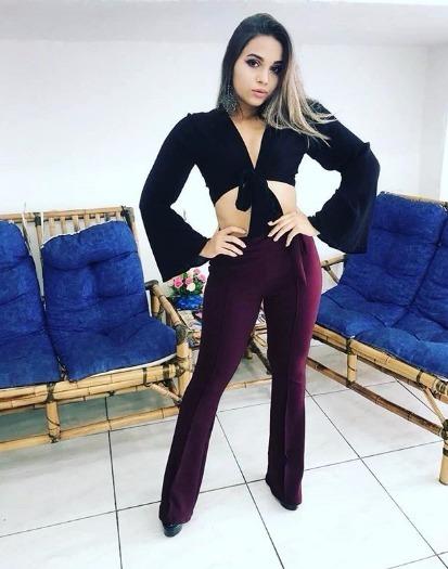 Calça Feminina Longa Várias Cores Roupas Femininas Malha