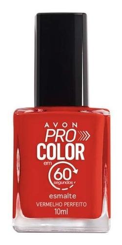 Imagem 1 de 1 de Avon - Pro Color 60 Segundos - Esmalte - Vermelho Perfeito