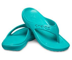 Crocs, Sandalia Unisex, Crocband Flip Verde