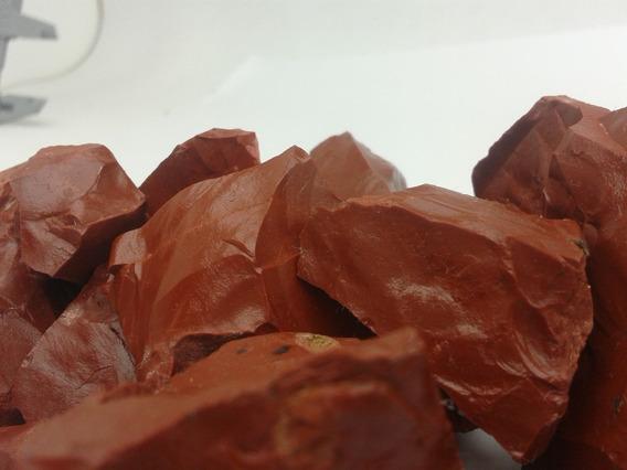 Jaspe Vermelho Bruta Natural 500g Pedra Cura Cristais