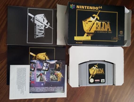 Zelda Ocarina Of Time Completa Rara Dois Manuais Europa Eur
