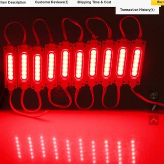 10 Modulo Led Cob 2w 12v Rojo Ultrabrillante Chip Samsung