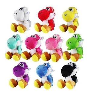 Juguete Peluche Yoshi Colores De Mario Bros 17 Cm Colección