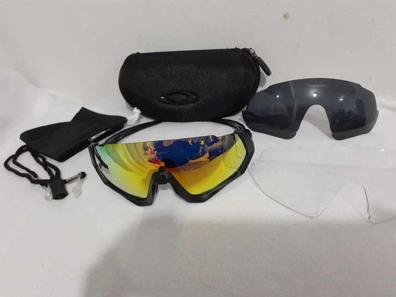 Oakley Flight Jacket 009401 Con Lunas Intercambiable