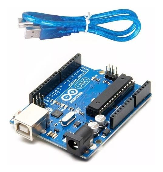 Arduino Uno R3 + Cable - Chip Desmontable - Placa Original