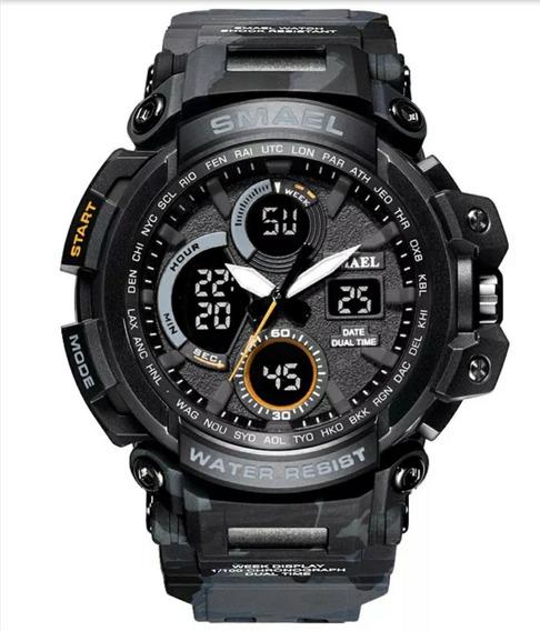 Relógio Militar Esportivo Digital Smael 1708 Prova D,água
