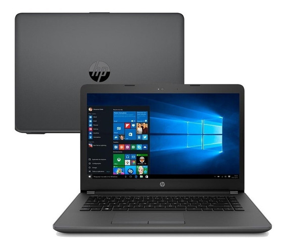 Notebook Hp 246 G6 - 14 Intel Core I3-7020u, 4gb, Hd 500gb