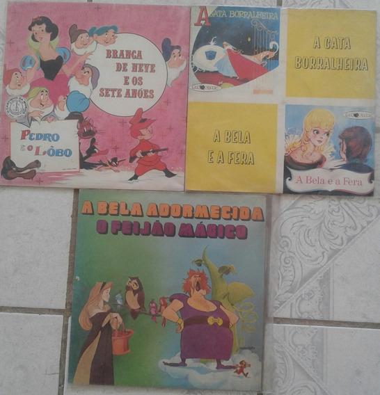 Histórias Infantis 03 Lps Raríssimos E Bem Conservados