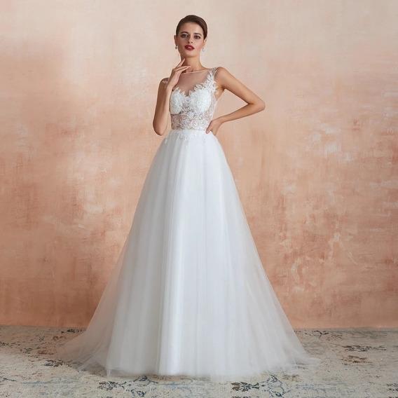 Vestido De Novia Blanco O Ivory Nueva Colección