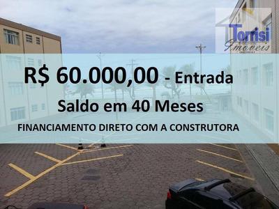 Kitnet Em Praia Grande, Sala Ampla, No Bairro Caiçara, Kn 0140 - Kn0140