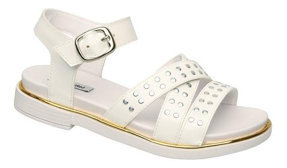 Sandalia Comfort Blanca Plumitas Oficial De Mujer