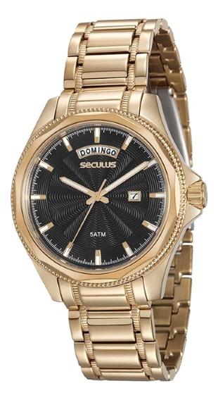 Relógio Masculino Seculus 20459gpsvda1 Dourado