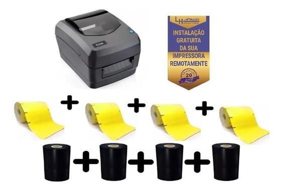 Impressora De Etiquetas Elgin L42 + 4 Ribbon + 4 Etiqueta