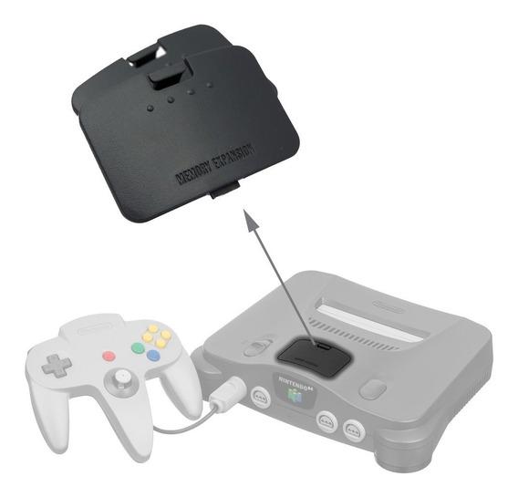 Tampa Do Jumper Pak/expansor De Memória Do Nintendo 64 Preto