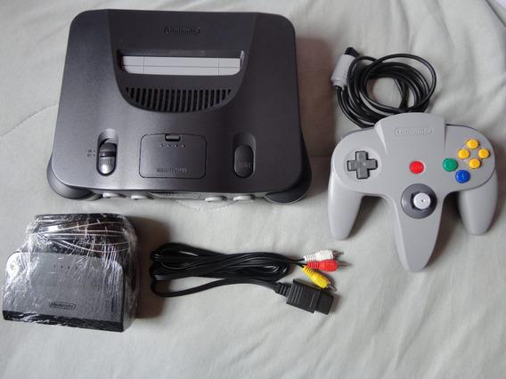 Nintendo 64 + 1 Controle + Super Mario 64//