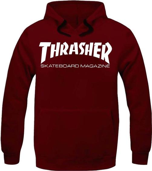 Moletom Thrasher Magazine Skateboard Blusa Moleton Casaco