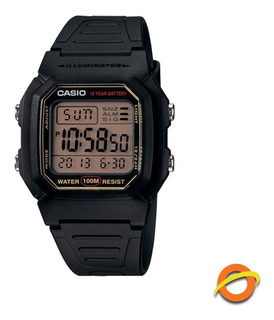 Reloj Casio W-800h Digital Sumergible Cronometro Pila 10 Año
