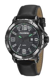 Relógio Mondaine Masculino Metal Couro 35963