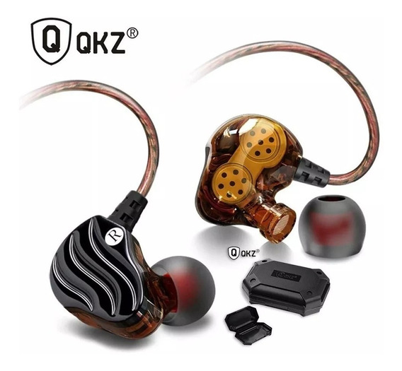 Fone De Ouvido In Ear Qkz Kd4 Dual Driver Retorno