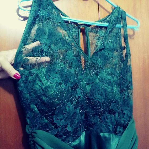 Vestido Verde Longo E Com Renda