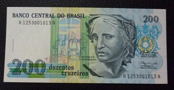 Brasil Billete 200 Cruzeiros Pick 229 Año 1990 Sin Circular