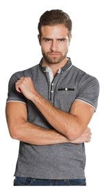 Playeras Camisas Polo Hombre Negra Casual Moda Cuello A80186